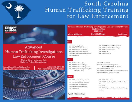 Agenda for Law Enforcement investigating human trafficking crimes.